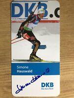 Simone Hauswald Ak Dkb Deportes Tarjeta Autografiada Original Firmado