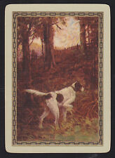 1 Single VINTAGE Playing/Swap Card US WIDE GUN DOG POINT 'STEADY ST-2-1-A' 1922