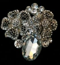 Flower Brooches Fashion Women Crystal Wedding Broches Pin Jewelry scarf