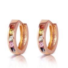 Genuine 1.30 ctw Multi-Color Sapphire Earrings Jewelry 14KT Rose Gol... Lot 5162