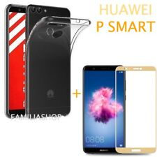 Film Integral Toughened Glass Gold for Huawei P Smart+ Silicone Cover