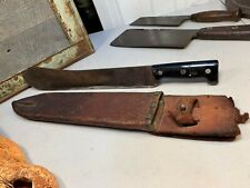 Vintage WWII English Sheffield Waylett Machete with Leather Holster 51cm