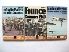Ballantine's Illustrated History of World War II   nos. 5-7   3 digest size pb