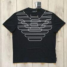 NEW 100 % original men EMPORIO ARMANI black Eagle logo cotton t-shirt Size XL