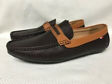 New Men's Phat farm Classic Brown & Black Faux leather driving moccasins Sz 12