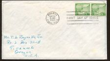 1958 Balboa Canal Zone Air Mail First Day Cover