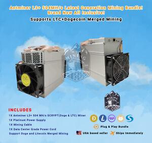 Brand New Antminer L3+ Doge&LTC Mining Bundle! Plug & Play