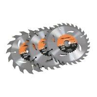 Circular Saw Blades 160mm 16, 24 & 30Teeth TCT Blades For Wood Cutting 3 BLADES