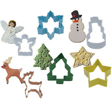 Christmas cookie cutter cake pastry biscuit sugarcraft Snowman Tree Reindeer
