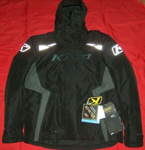 NEW KLIM Trail SZ L Black Gore-Tex Thinsulate Ascent Float System Rift Jacket