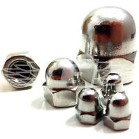 PACK OF 4 x M12 A2 STAINLESS STEEL DOME NUTS COARSE THREAD DIN1587 ACORN *