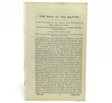CALVANISTIC BAPTIST The Root of the Matter SERMON by James HALLETT First Edition
