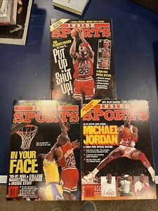 3 Michael Jordan Covers 1990-91 Inside Sports Magazine  NBA Chicago Bulls NM