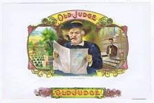 Old Judge, original inner cigar label, cigar shop, newspaper