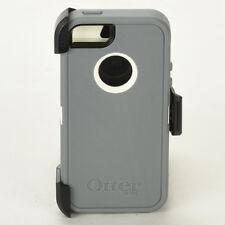 OtterBox Defender iPhone 5 Hard Case w/Holster Belt Clip Glacier Gray/White NEW