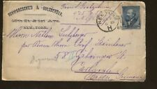 1889 New York to Germany Schwarzschild & Sulzberger Ad Cover & Personal Letter