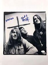 CHAD CHANNING w/ Kurt Cobain Autograph Nirvana 12x12 Photo JSA Bleach Signed Z1