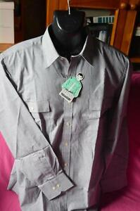 mens new with tag long sleeve shirt by paramount colour grey size 41cm collar.