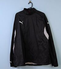 Mens Puma Pullover Jacket in Black Sports Windbreaker XL X-Large