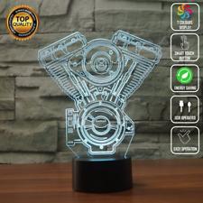 ENGINE BLOCK CAR V8 3D Acrylic LED 7 Colour Night Light Touch Table Lamp