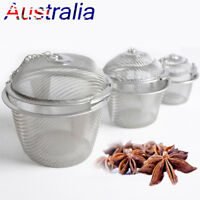 New Practical Tea Ball Spice Strainer Mesh Infuser Filter Stainless Steel Herbal