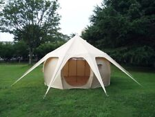 Belle waterproof canvas tent (113 sq ft) - & 6 Person Canvas Waterproof Camping Tents | eBay