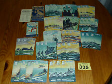 More details for england expects card game : complete : vintage : 1940s rare ships cards