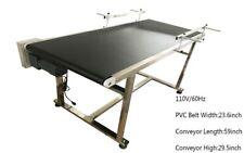 "1 PC 110V 59""x 23.6"" PVC Double Guardrails Belt Conveyor Packing Tool Newest"