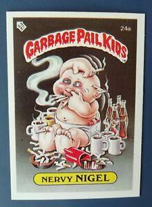 Nervy Nigel 24a UK Garbage Pail Kids Series 1(1985)Topps~NMT/MINT~Pack Fresh