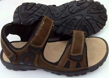 New Mens Dr Keller Oyster Adjustable Sport Leather Sandals Brown Cow Suede UK 9