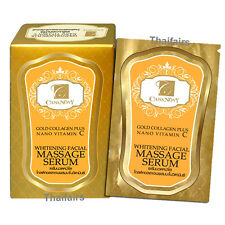 Gold Collagen Plus NANO Vitamin C Whitening Facial Massage Serum 10ml.x 6 pieces