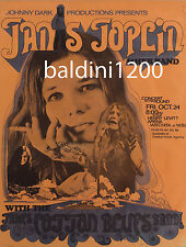 JANIS JOPLIN - HIGH QUALITY EARLY VINTAGE 1969 CONCERT POSTER-LOOKS GREAT FRAMED