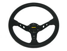350mm Black PU Leather Corsica Style Deep Dish Racing Sprots Steering Wheel 14""
