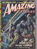 AUG 1952  AMAZING STORIES - vintage science fiction pulp magazine