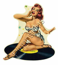 Pinup Record Girl Classic Guitar Waterslide Decal S112 by Pinupsplus