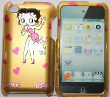 iPod Touch 4th Gen - HARD PROTECTOR CASE COVER GOLD BETTY BOOP RED DRESS PUPPY