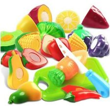 1 Set Plastic Cutting Fruits and Vegetables Set Pretend Play Toys for Kids Rando