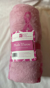 Northpoint Pink National Breast Cancer Foundation Plush Throw 50x60 in