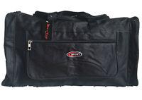 NEW Adults Travel Bag w Shoulder Strap Gym Sport Bags Water Resistant Black