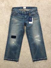Womens Jeans Simon Miller W005 Crop Cheviot Raw Hem 25