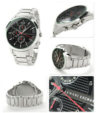 new + box men's ARMANI EXCHANGE AX2163 Stainless Steel A/X WATCH Chronograph