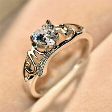Heart Love Mom 925 Silver White Sapphire Ring Mother's Day Jewelry Gift new