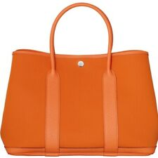 HERMÈS AUTHENTIC HERMES GARDEN PARTY 36 PM TOTE HAND BAG ORANGE / TOFFEE