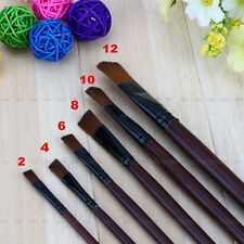 Fine 6Pcs/Set Nylon Acrylic Oil Paint Brushes For Art Artist Supplies Watercolor