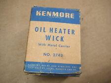 KENMORE OIL HEATER WICK & METAL CARRIER  #2743 - SEARS ROEBUCK - ORIGINAL BOX