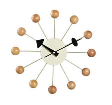 Classic Modern Design Retro Natural Wood Ball Wall Clock George Nelson Replica