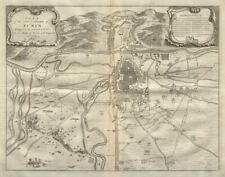 Plan of the city & citadel of Turin. 1706 Siege. Italy. DU BOSC 1736 old map
