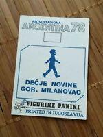 PICK ANY STICKER #1-200# World Cup 1978 Argentina 74 Panini YUGOSLAVIA EDITION