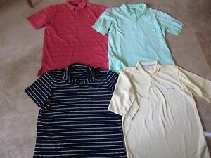 Lot, 4 mens size XL polo, golf shirts, Columbia, RLX Ralph Lauren
