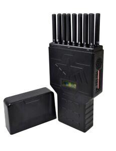 16 Bands Handheld Hidden Antenna Cell Phone 4G 5G Jammer WiFi RF Signal Blocker